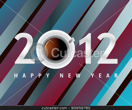 Happy new year 2012 stock photo, Happy new year 2012, conceptual 2012 year created from circles with colored background. by Designsstock