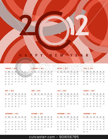 New year 2012 Calendar stock photo, New year 2012 Calendar and conceptual banner for new year. by Designsstock