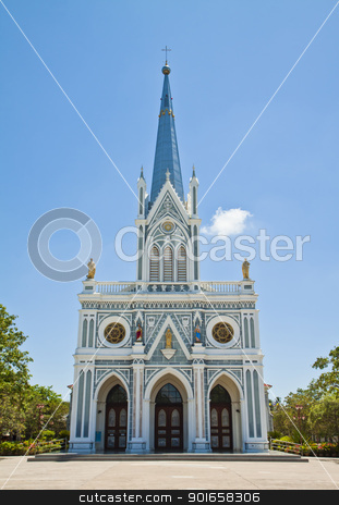 Church of Christ. stock photo, Church of Christ 100 years old,in thailand. by thepoo