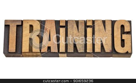 training word in letterpress type stock photo, training - isolated word in vintage  letterpress wood type by Marek Uliasz
