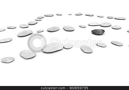 pebbles on white stock photo, An image of some nice pabbles on a white background by Markus Gann