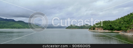 srinakarin dam in kanchanaburi, thailand stock photo,  by audfriday13