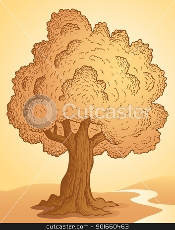 Tree theme image 3 stock vector clipart, Tree theme image 3 - vector illustration. by Klara Viskova
