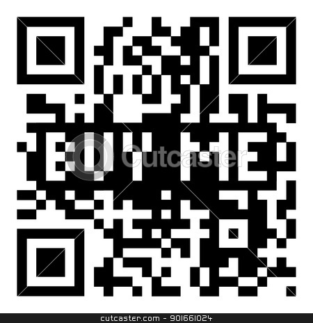 QR code buy me stock vector clipart, Simple modern qr code with buy me for shopping icon by Michael Travers