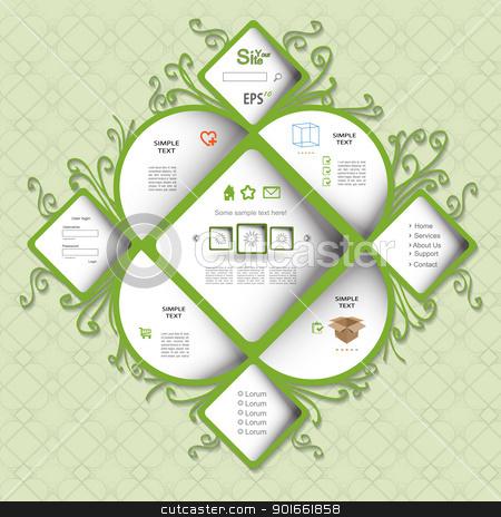 Nature modern vector web design stock vector clipart, Nature modern creative green vector web design by naturartist