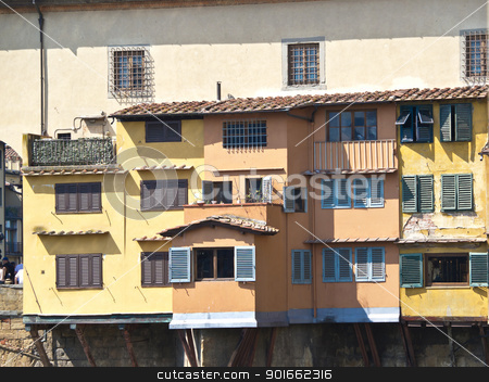 Ponte Vechio stock photo,  houses onPonte Vechio bridge in Florence by nevenm