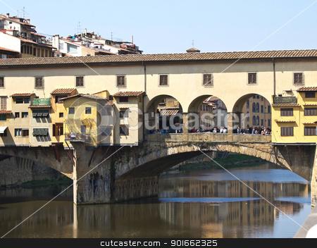Ponte Vechio stock photo, Ponte Vechio bridge in Florence Italy by nevenm