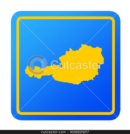 Austria European button stock photo, Austria European button isolated on a white background with clipping path. by Martin Crowdy