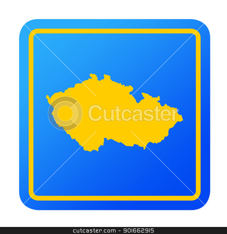 Czech Republic European button stock photo, Czech Republic European button isolated on a white background with clipping path. by Martin Crowdy