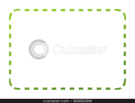 Eco green coupon stock photo, Blank eco green coupon with clipping path and copy space isolated on white background. by Martin Crowdy