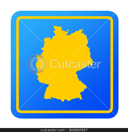 Germany European button stock photo, Germany European button isolated on a white background with clipping path. by Martin Crowdy