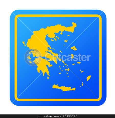 Greece European button stock photo, Greece European button isolated on a white background with clipping path. by Martin Crowdy