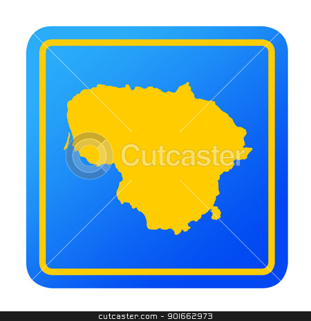 Lithuania European button stock photo, Lithuania European button isolated on a white background with clipping path. by Martin Crowdy