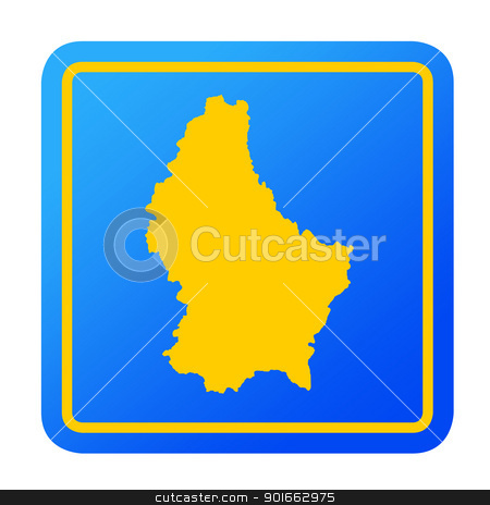Luxembourg European button stock photo, Luxembourg European button isolated on a white background with clipping path. by Martin Crowdy