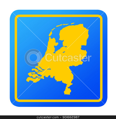Netherlands European button stock photo, Netherlands European button isolated on a white background with clipping path. by Martin Crowdy