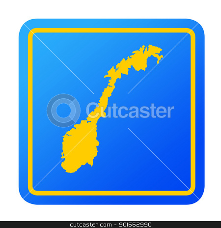Norway European button stock photo, Norway European button isolated on a white background with clipping path. by Martin Crowdy