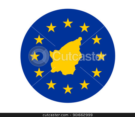 San Marino European flag stock photo, Map of San Marino on European Union flag with yellow stars. by Martin Crowdy