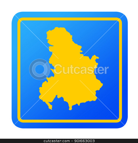 Serbia and Montenegro European button stock photo, Serbia and Montenegro European button isolated on a white background with clipping path. by Martin Crowdy
