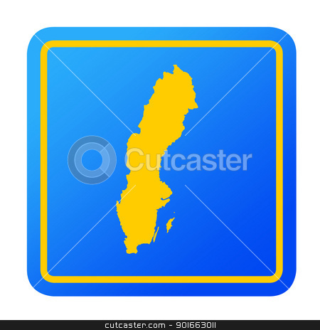 Sweden European button stock photo, Sweden European button isolated on a white background with clipping path. by Martin Crowdy
