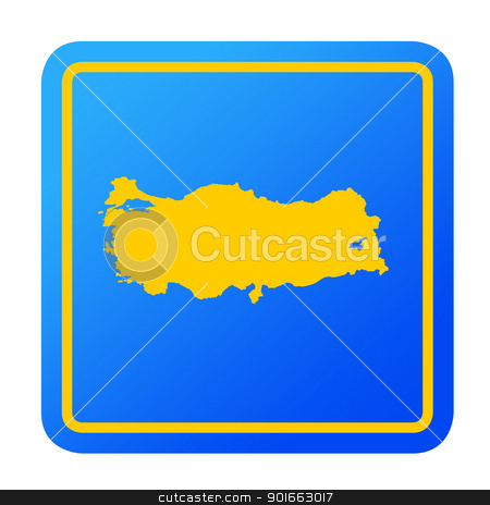 Turkey European button stock photo, Turkey European button isolated on a white background with clipping path. by Martin Crowdy