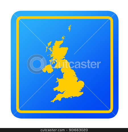 U.K European button stock photo, U.K or United Kingdom European button isolated on a white background with clipping path. by Martin Crowdy