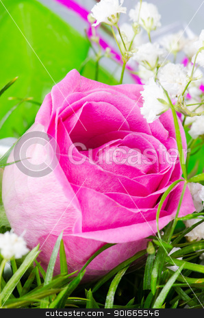 Rose flower stock photo, Rose flower in spring bouquet by Nanisimova