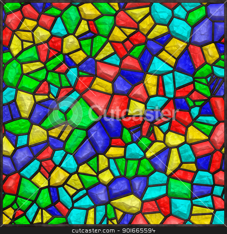 Stained glass colorful stock photo, High quality seamless stained glass background by Nanisimova