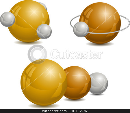 Spheres stock vector clipart, Abstract design wiht spheres. Vector illustration. by vtorous