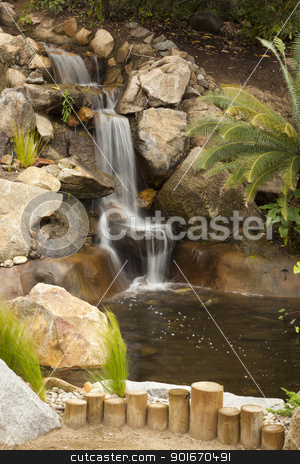 Japanese Zen Garden Stream stock photo, Beautiful Japanese Zen Garden Stream with Time-Lapse Slow Shutter. by Andy Dean