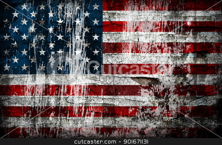 Grungy American flag background. stock photo, Grungy American flag background. by Oleksiy Fedorov