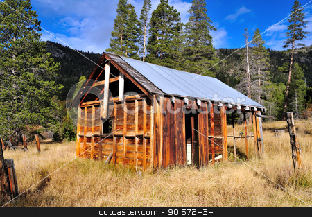 Abandoned Decaying House stock photo, The decaying remains of an old abandoned home in the forest  located in the  California Sierra mountains. by Lynn Bendickson