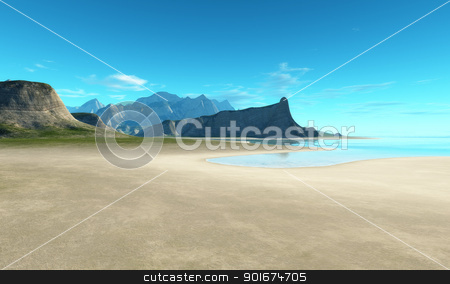beach scenery background stock photo, An image of a nice beach scenery background by Markus Gann