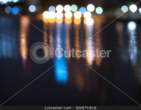 Abstract water stock photo, Abstract background with blurs and refelctions in water by Exsodus