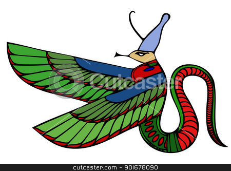 vector Egyptian demon stock vector clipart, Image of the Egyptian demon by Siloto
