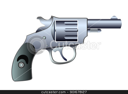 colt - vector stock vector clipart, Image of the fire-arm - colt - vector by Siloto