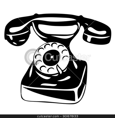 old analogue phone - vector stock vector clipart, Illustration of the old phone - vector by Siloto