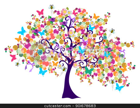 abstract spring time tree stock vector spring clipart images spring clip art images