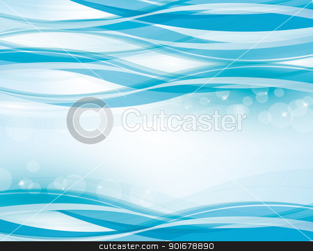 blue background stock vector clipart, blue background with abstract waves by Miroslava Hlavacova