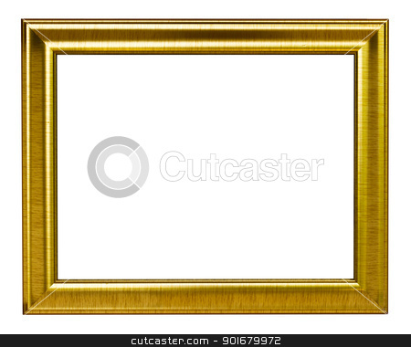 Gold Picture frame stock photo,  by pattarastock