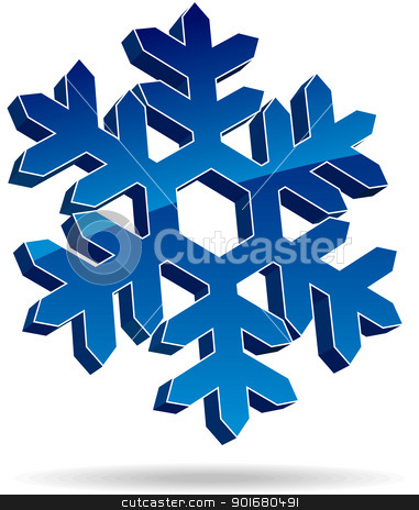Snow flake stock vector clipart, Snow flake. Vector illustration. by vtorous