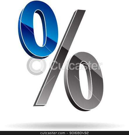 Percent symbol stock vector clipart, Percent symbol. Vector illustration. by vtorous