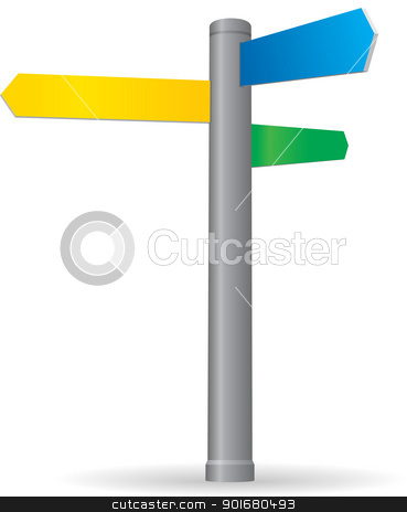 Blank signpost stock vector clipart, Blank signpost. Vector illustration. by vtorous
