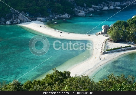 Nang Yuan island stock photo, Close up at beautiful beach of Nang Yuan island in Surathani, south of Thailand by pattarastock