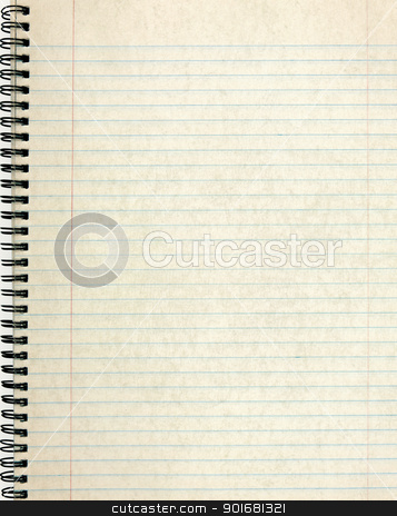 Old notebook page lined paper. stock photo, Old notebook page lined paper. by Stephen Rees