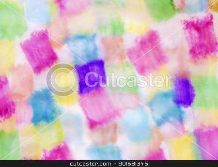 Abstract soft pastel watercolor paint on paper texture. stock photo, Abstract soft pastel watercolor paint on paper texture. by Stephen Rees