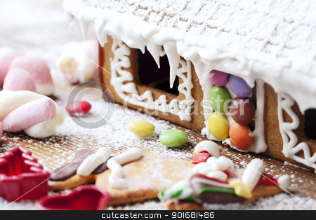 christmas gingerbread stock photo, closeup of christmas sweets by Liv Friis-Larsen