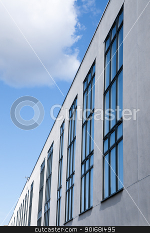 The office stock photo, Close-up on the modern building.Concrete and glass. by nowoka1na