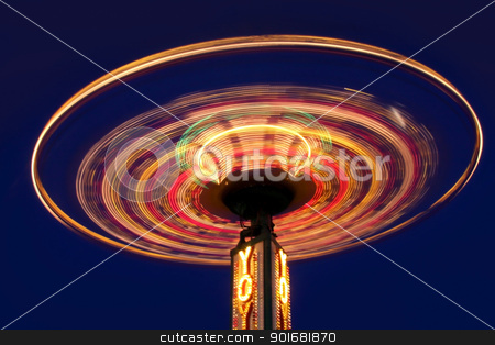 Carnival  stock photo, Carnival yoyo wheel in the motion in night time by Sreedhar Yedlapati