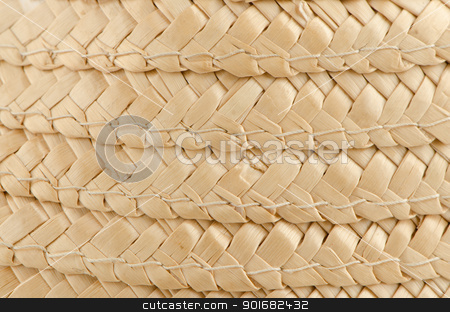 Straw background stock photo, Curved lines pattern in a Straw Basket background. by Homydesign