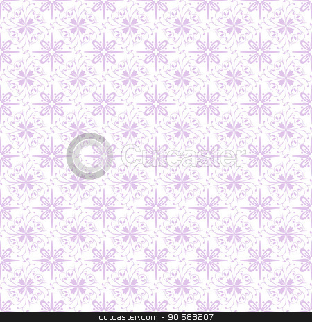 Seamless Floral Pattern stock vector clipart, Beutiful background of seamless floral pattern by Ingvar Bjork